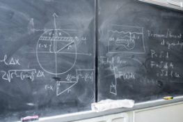 Photoblock - Blackboard with Math problems