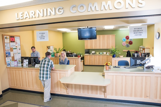 The learning center front desk
